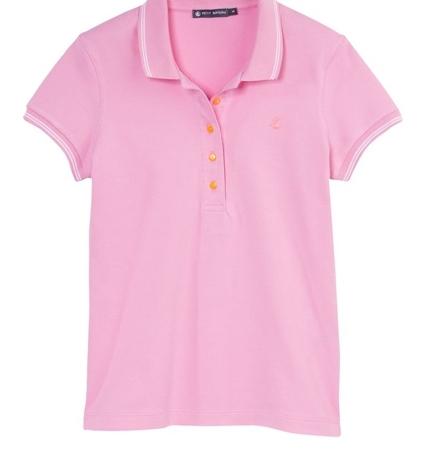 Petit Bateau Polo femme en piqué de coton stretch 33608 16 Rose