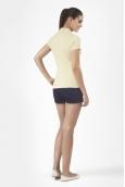 Petit Bateau Polo femme en piqué de coton stretch 33608 36 Jaune