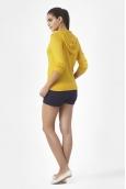Petit Bateau Veste zippée femme à capuche en lin 32928 73 Jaune