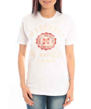 Sweet Company T-shirt Marshall Original M and Co 2346 Blanc