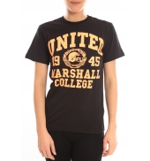 Sweet Company T-shirt United Marshall College Tissu Noir & Écriture Orange