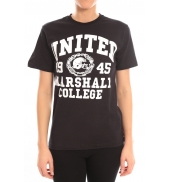 Sweet Company T-shirt United Marshall College Tissu Noir & Écriture Blanche