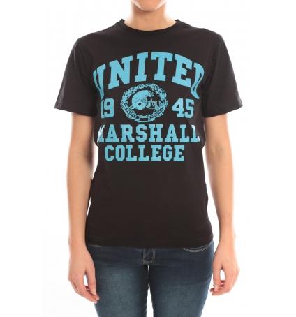 Sweet Company T-shirt United Marshall College Tissu Noir & Écriture Bleue