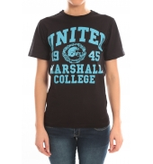 Sweet Company T-shirt United Marshall College Tissu Noir & Écriture Bleue