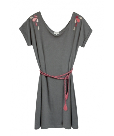 Blune Robe Larme de Joie LJ-RF01E13 Grise