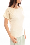 Blune T-Shirt Pointilleuse PO-TF02E13 Écru