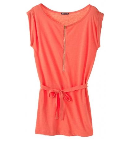 PETIT BATEAU Robe femme en jersey flammé 32992 20 Orange