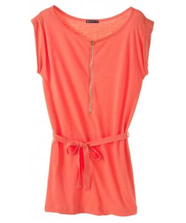 PETIT BATEAU Robe femme trois trous en jersey flammé 32992 20 Orange