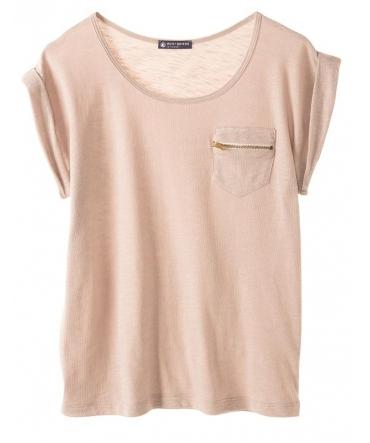 PETIT BATEAU T-shirt femme col rond en jersey flammé 32990 09 Rose