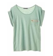 PETIT BATEAU T-shirt femme col rond en jersey flammé 32990 02 Vert