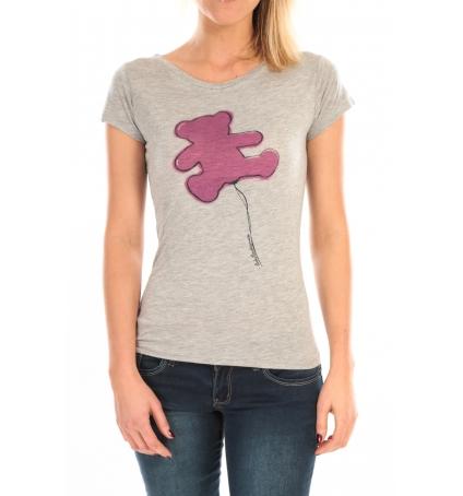 LULU CASTAGNETTE T-Shirt Pics Printe Ours Gris