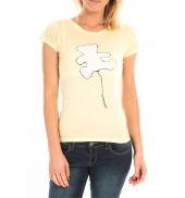LULU CASTAGNETTE T-Shirt Pics Printe Ours Jaune