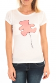 LULU CASTAGNETTE T-Shirt Pics Printe Ours Blanc