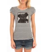 LULU CASTAGNETTE T-Shirt Liss Rayure Gris