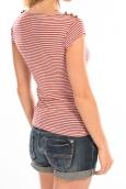LULU CASTAGNETTE T-Shirt Jeny Rayé Rouge