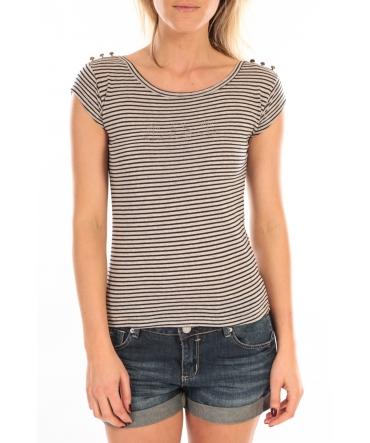 LULU CASTAGNETTE T-Shirt Jeny Rayé Bleu