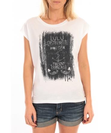 LULU CASTAGNETTE Top Luna Print Blanc