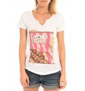 LULU CASTAGNETTE T-Shirt Mimi Flamme Print Blanc