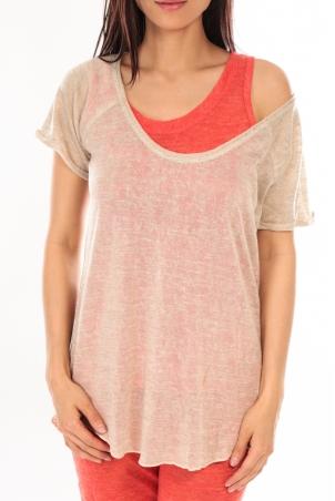 By la Vitrine T-Shirt BLV03 Beige 1 acheté = 1 offert