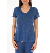 By la Vitrine T-Shirt BLV07 Bleu