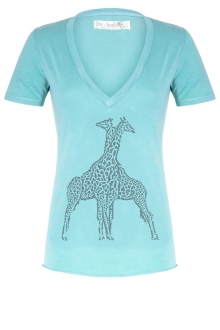 So Charlotte V neck short sleeves Giraffe T00-91-80 Vert