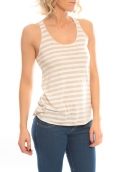 So Charlotte Oversize tank Top Stripe T36-371-00 Blanc