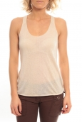 So Charlotte Oversize tank Top Snake Burnout T53-371-00 Beige