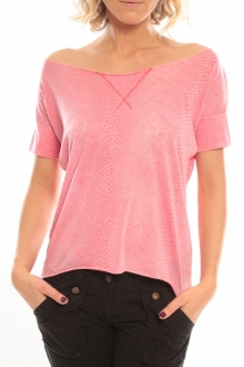 So Charlotte Tight short sleeves Tee all snake T53-406-00 Rose