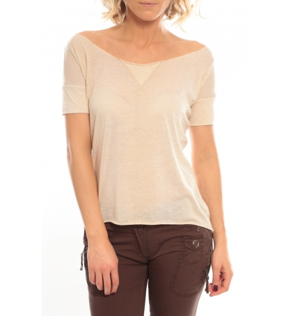 So Charlotte Tight short sleeves Tee all snake T53-406-00 Beige