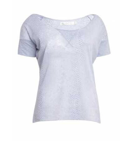So Charlotte Tight short sleeves Tee all snake T53-406-00 Gris