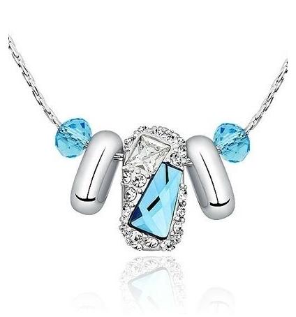 Collier Finesse en Cristal de Swarovski Elements Bleu