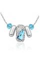 Collier Finesse en Cristal de Swarovski Element Bleu