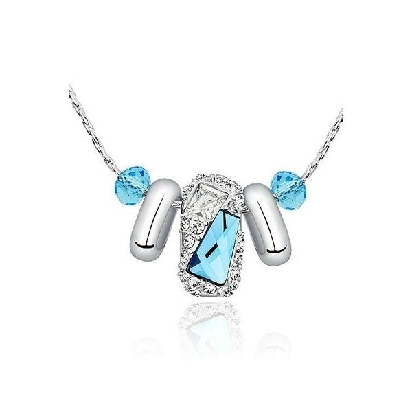 collier finesse en cristal de swarovski elements bleu. Black Bedroom Furniture Sets. Home Design Ideas