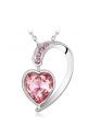 Pendentif Coeur en Cristal de Swarovski Element Rose