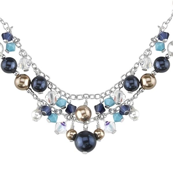 collier de perles en cristal swarovski elements. Black Bedroom Furniture Sets. Home Design Ideas