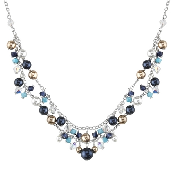 Célèbre Collier de Perles en Cristal Swarovski Elements QI35