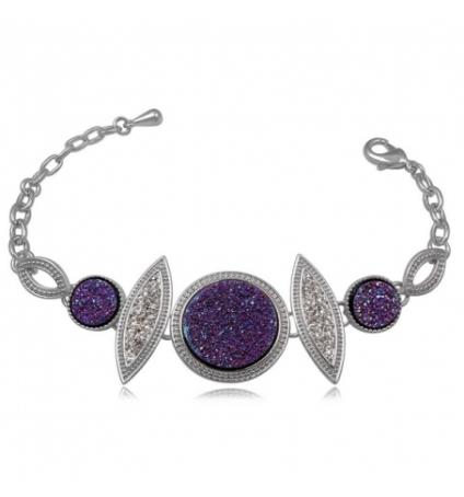 Swarovski Elements Bracelet Druzy Violet