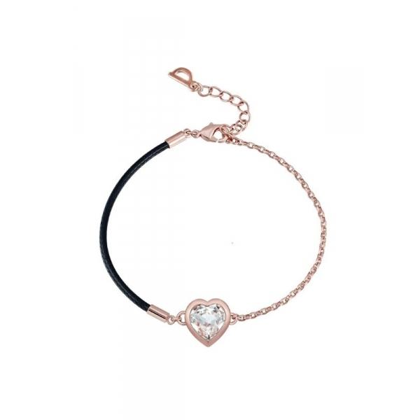 Bracelet Coeur En Cristal Swarovski Elements