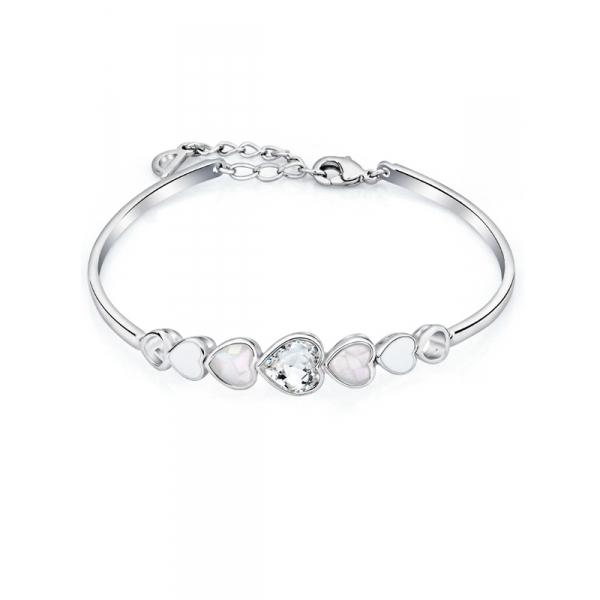 Bracelet Multi Coeurs En Cristal De Swarovski Elements Blanc