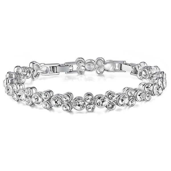 Bien-aimé Bracelet en Cristal de Swarovski Elements Blanc JD86