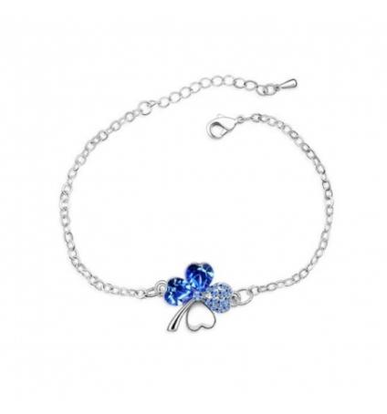 bracelet tr fle bleu cristal de swarovski elements. Black Bedroom Furniture Sets. Home Design Ideas