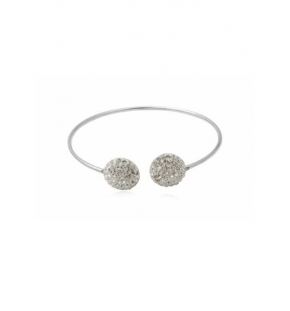 Swarovski Elements Bracelet Bangle Cristal Blanc