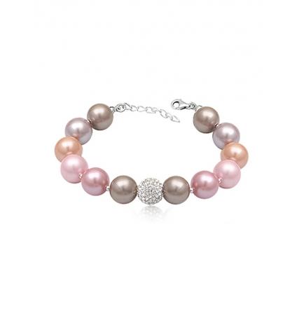 Bracelet de perles Multicolores et Cristal pur