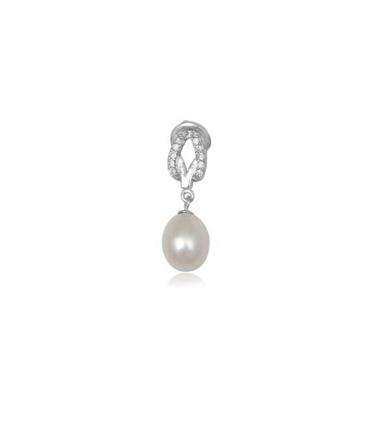 Pendentif Zirconium et Perle blanche