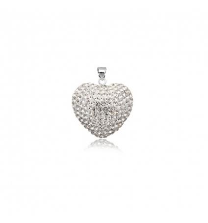 Pendentif Coeur en Cristal pur de Swarovski Elements