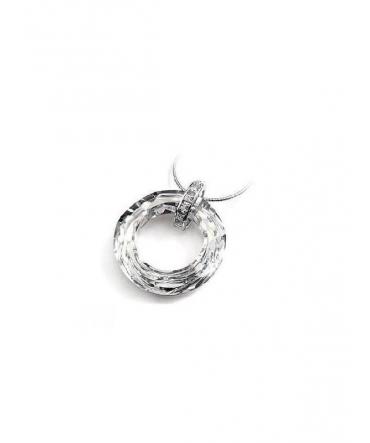 Pendentif Cercle de Cristal de Swarovski Elements