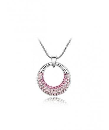 Pendentif Clair de Lune en Cristal de Swarovski Element rose