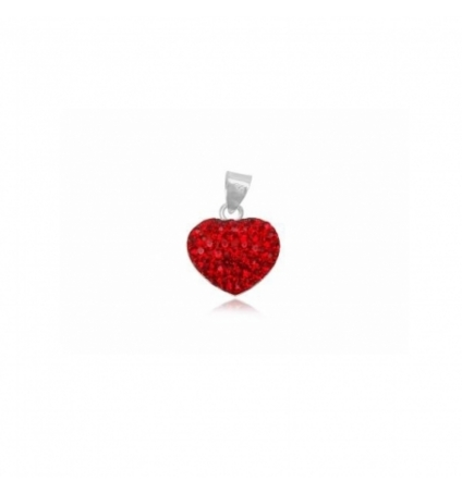 Pendentif Coeur Rouge en Cristal pur de Swarovski Elements