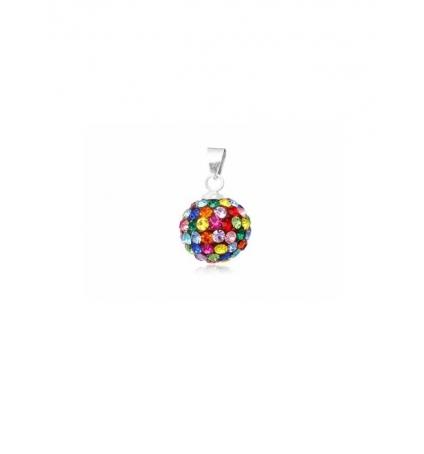 Pendentif Perle en Cristal pur Multicolor