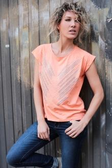 Vero Moda Top Binti Stud S/S EX5 Orange
